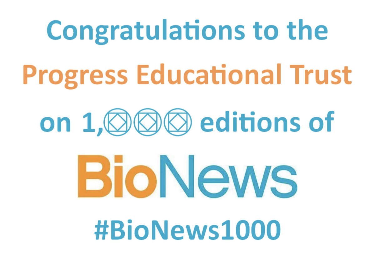 BioNews Celebrates 20 years and 1000 articles #BioNews1000