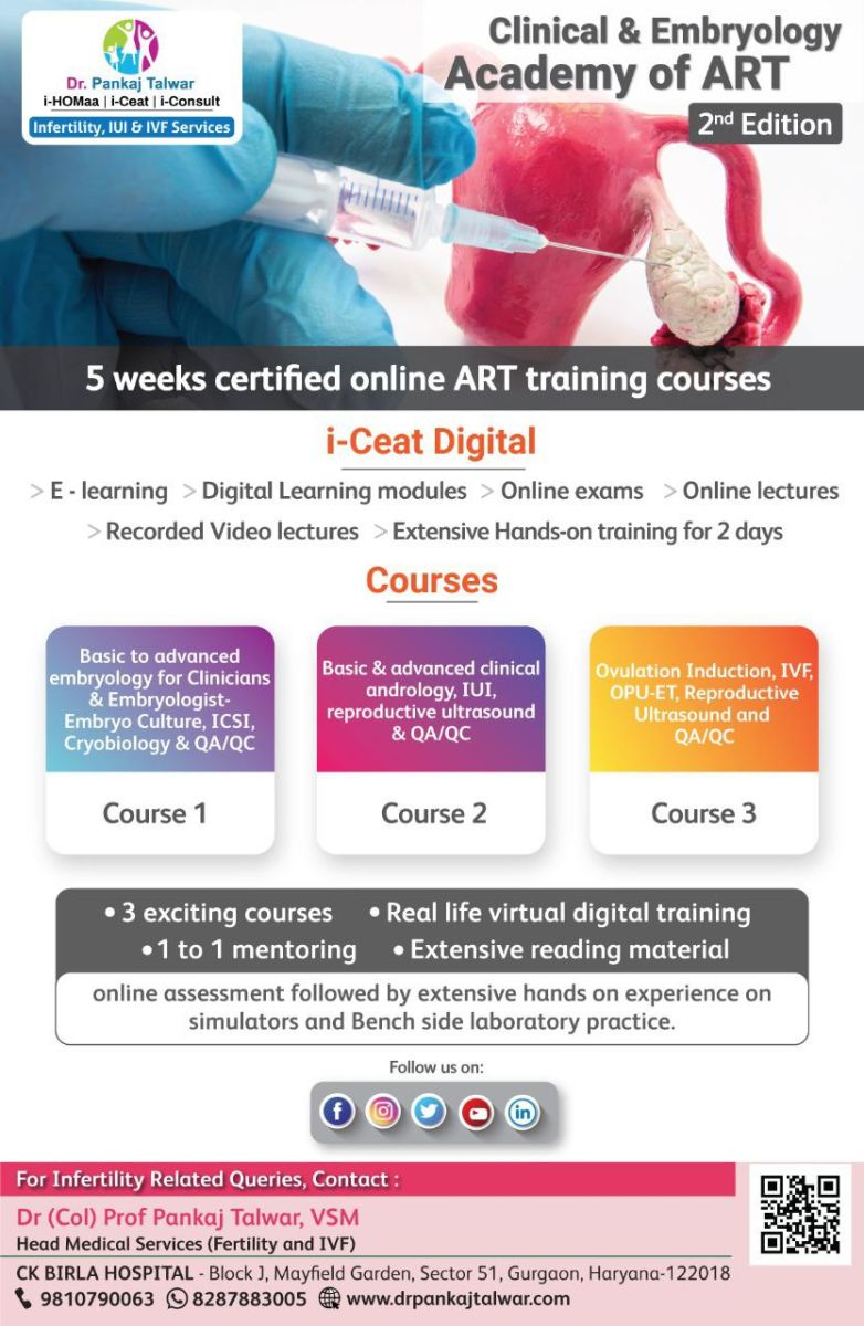 5 weeks certified online digital course with extensive contact program for two days