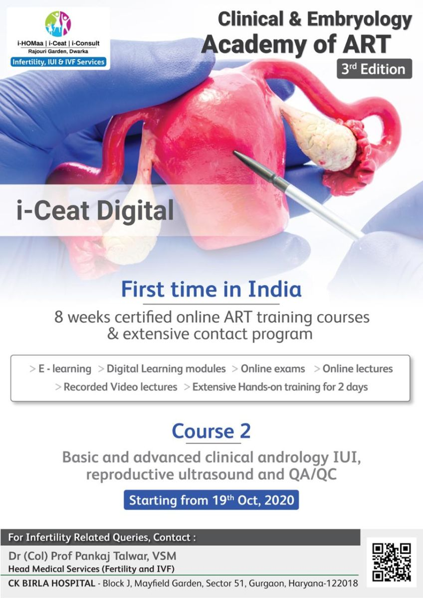 Course Name : Basic and advanced clinical andrology, IUI, reproductive ultrasound and QA/QC