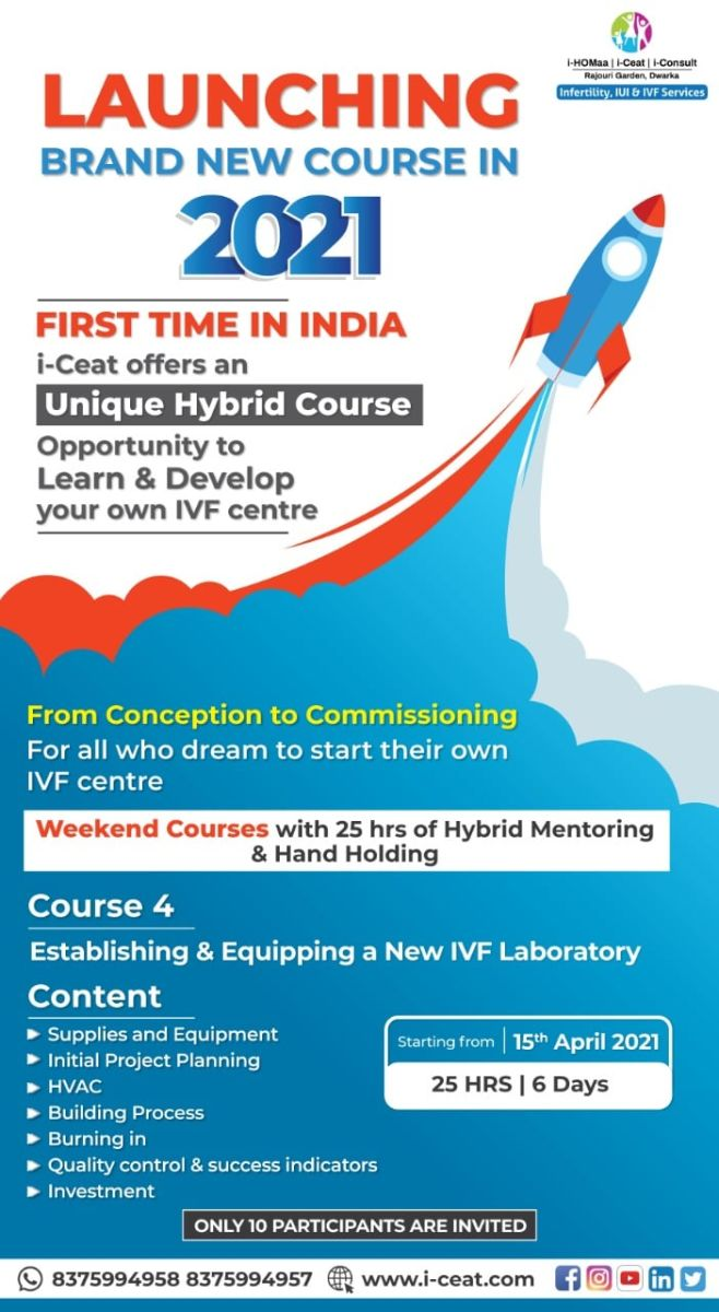 Course Name : Establishing & Equipping a New IVF Laboratory
