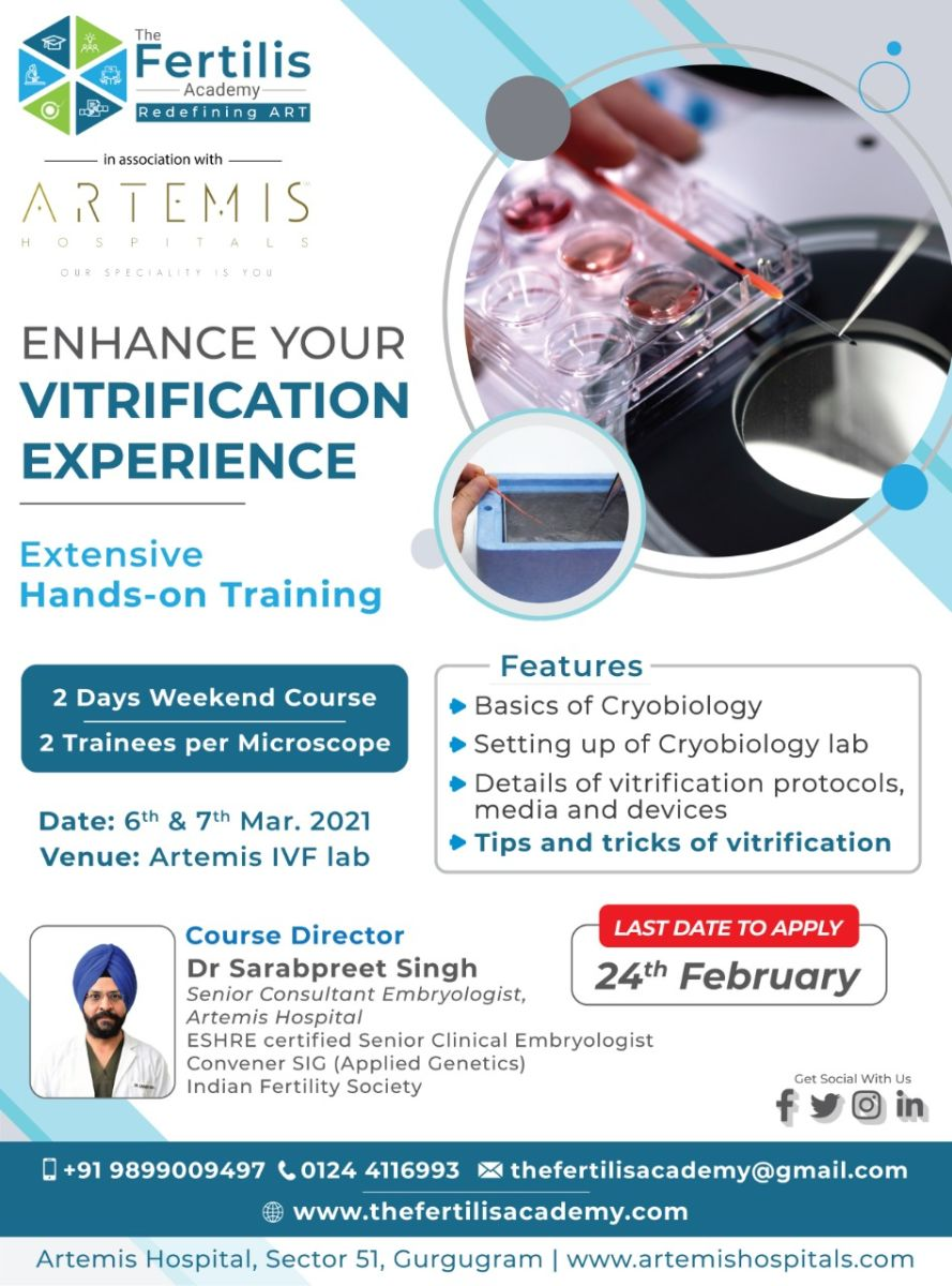 Enhance Your Vitrification Experience - Extensive Hands on Training