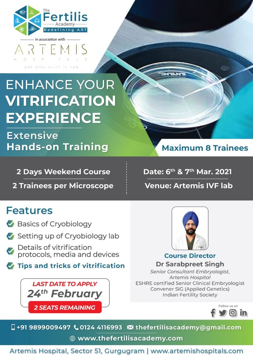 Enhance Your Vitrification Experience - Hurry! !! 2 Seats Remaining
