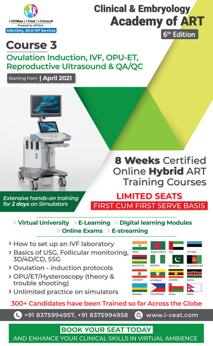 Course Name : Ovulation Induction, IVF, OPU-ET, Reproductive Ultrasound and QA/QC