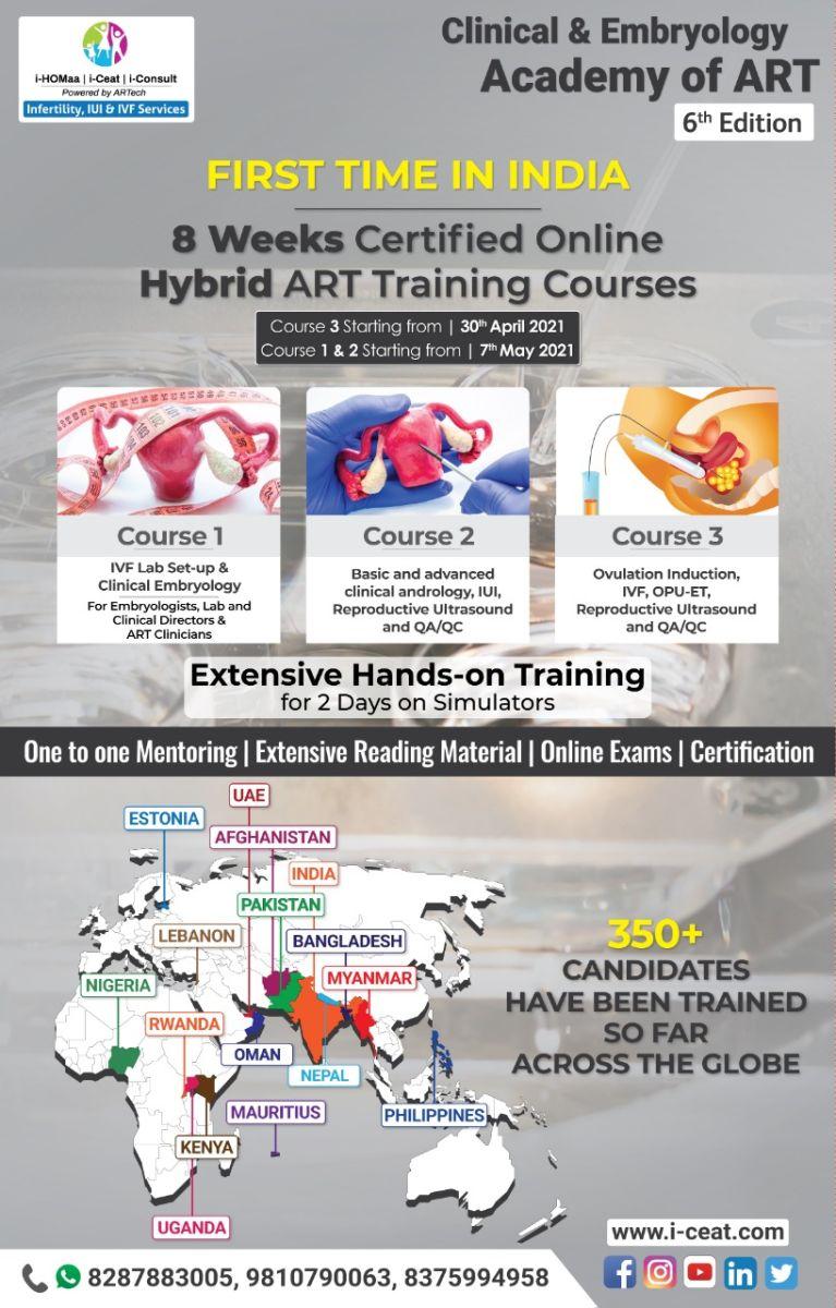 8 weeks certified online Hybrid ART training courses