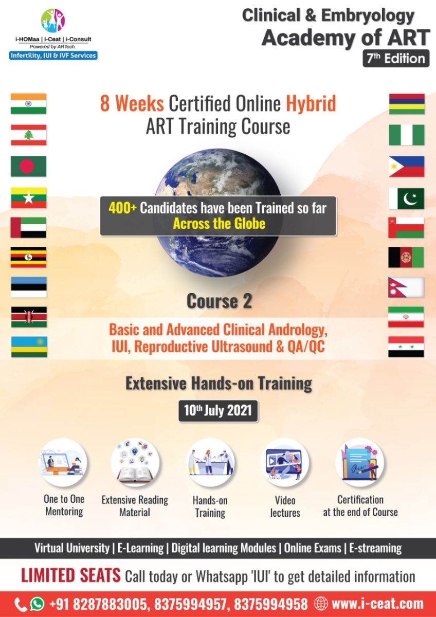 Basic to Advanced Clinical Andrology, IUI, Reproductive Ultrasound & QA/QC