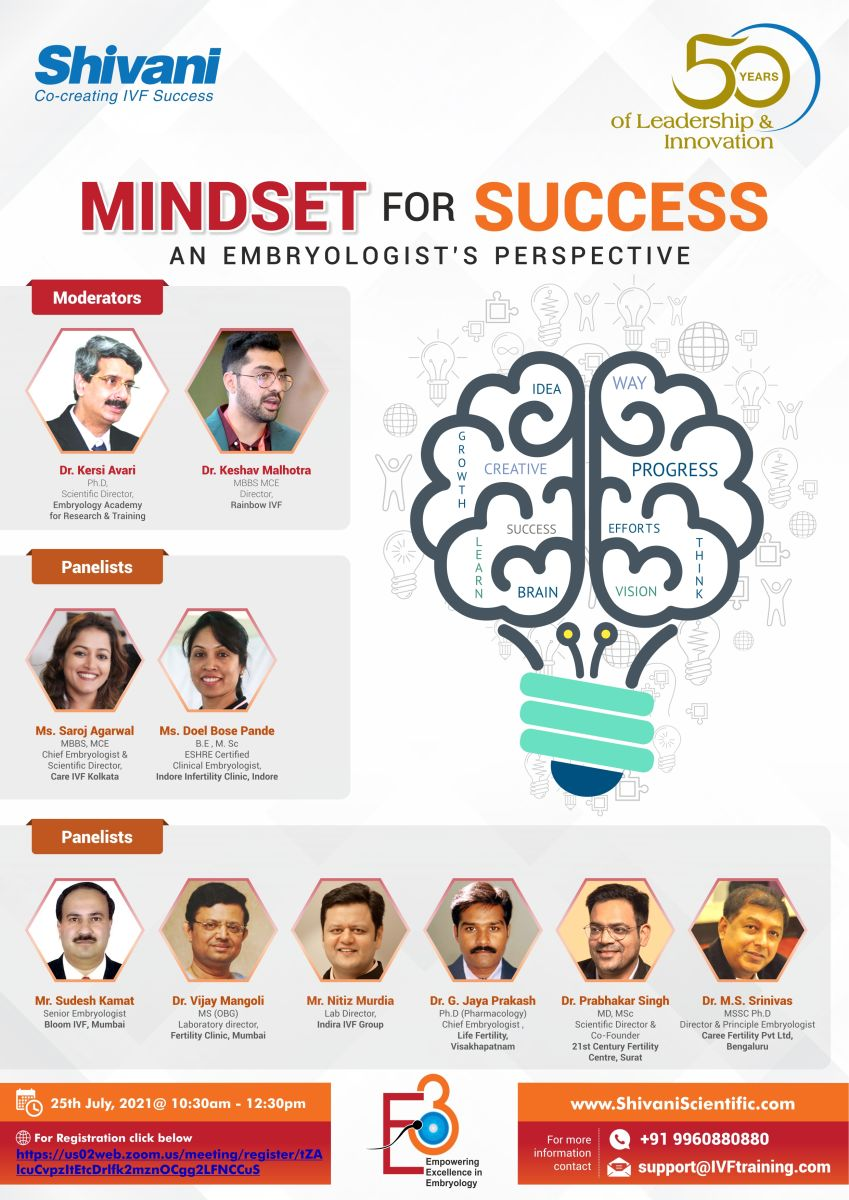 MINDSET FOR SUCCESS - AN EMBRYOLOGIST'S PERSPECTIVE