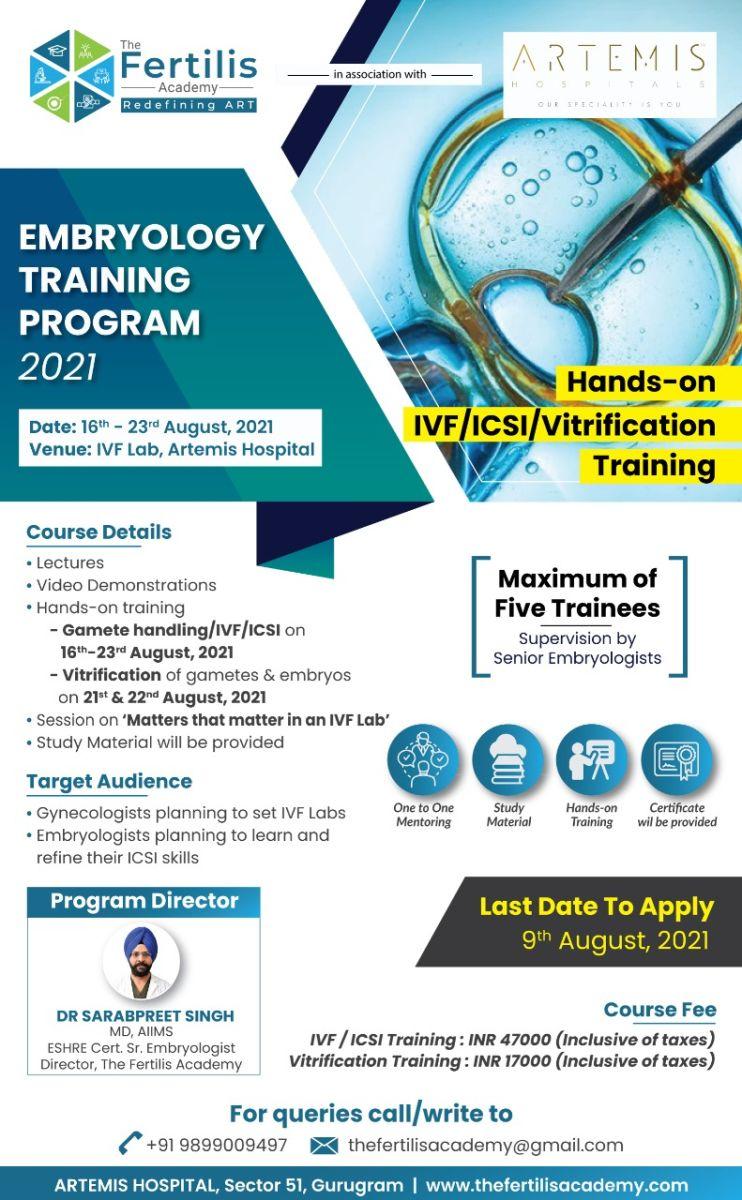 Join Embryology Training Program