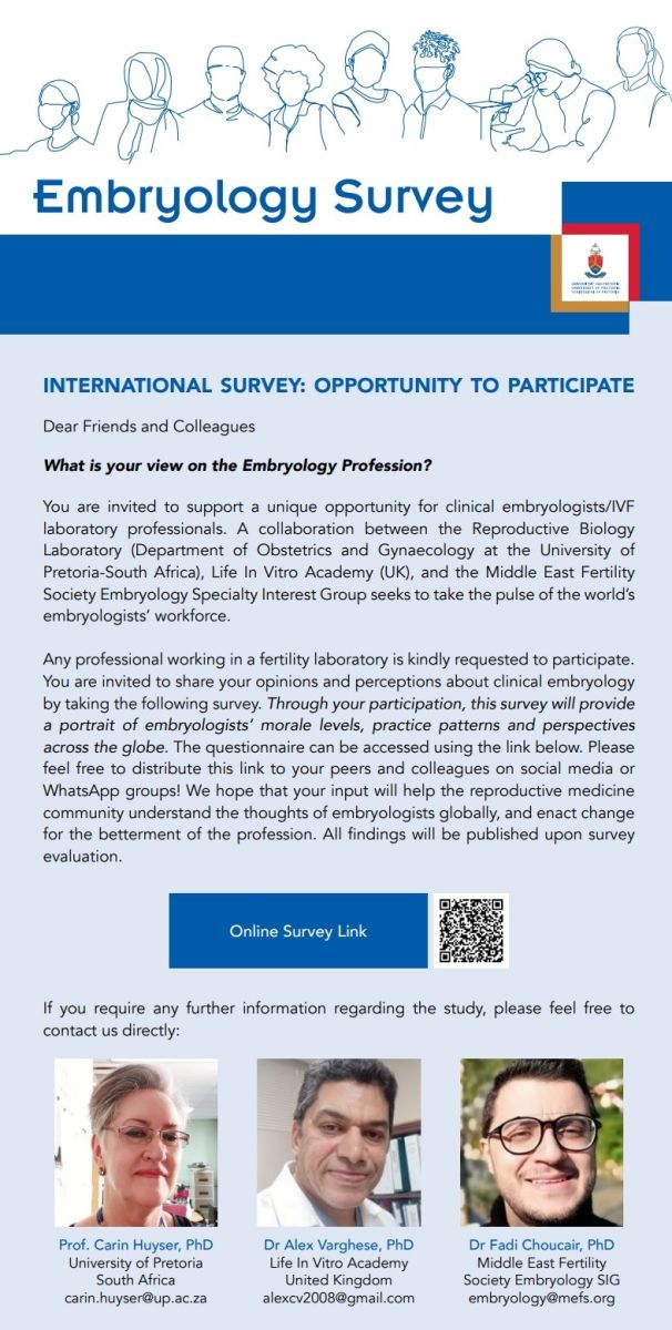 Global Survey-Clinical embryology practice patterns, challenges, career plans, and perspectives'