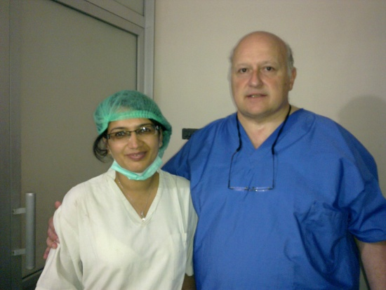 A Picture after successful completion of IVF Physician Training of Prof. Rubina with Prof. Claude