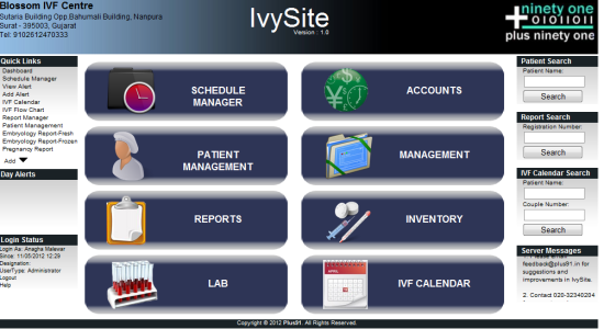 Ivysite Dashboard