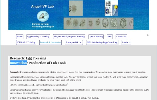 Production of Lab Tools-Angel IVF Lab