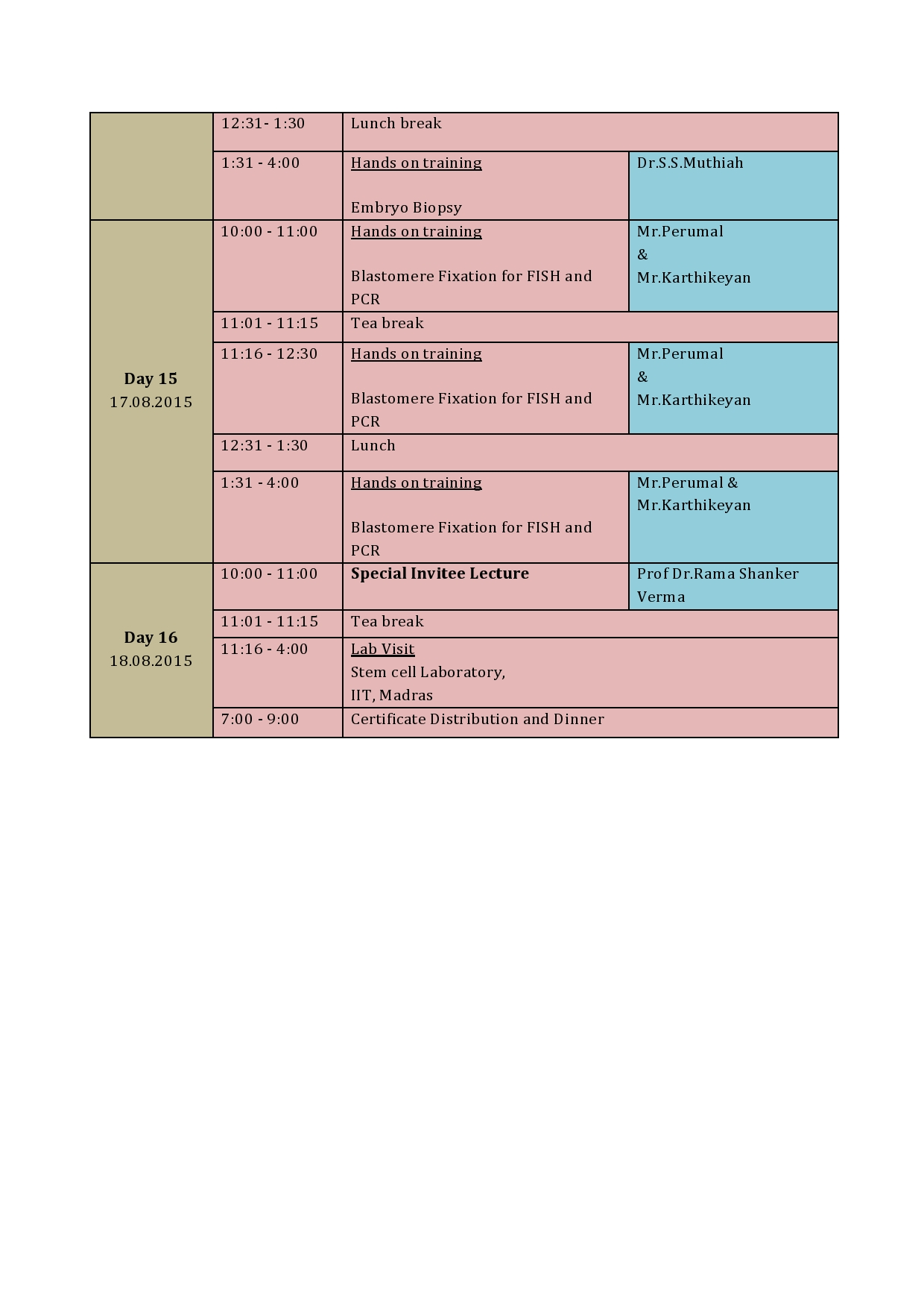 Technical Schedule - Page 5