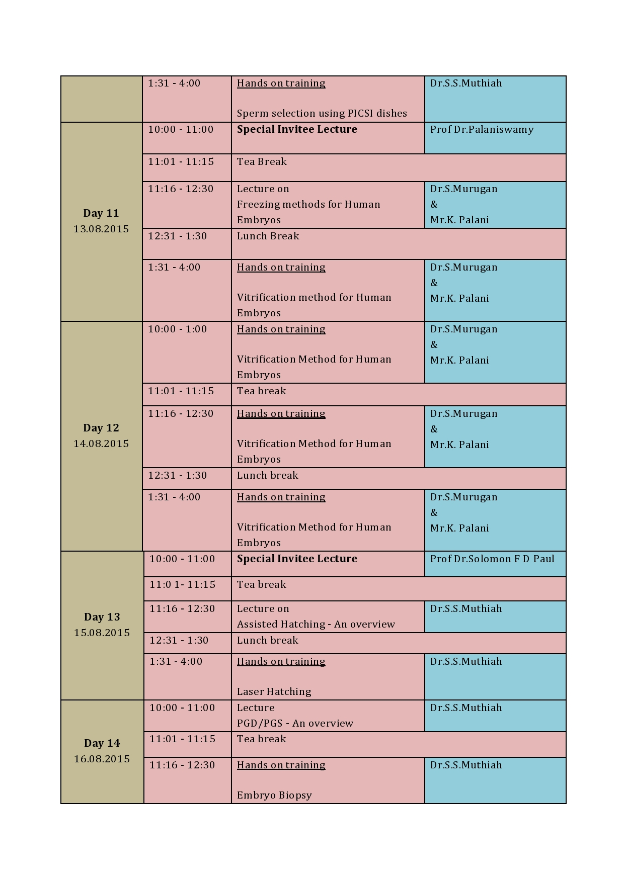 Technical Schedule - Page 4