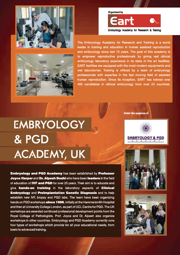 The Embryology and PGD Academy UK & EART