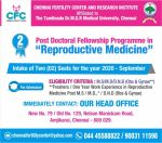 "Post Doctoral Fellowship Programme in ""Reproductive Medicine"""