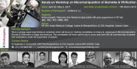 Hands On Workshop : Micromanipulation & Vitrification