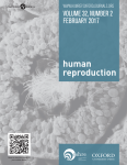 Human Reproduction. Vol. 32, No. 2 February 2017